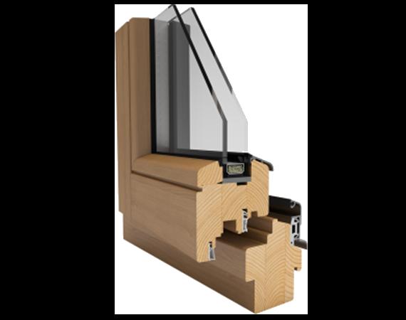 dřevené okno